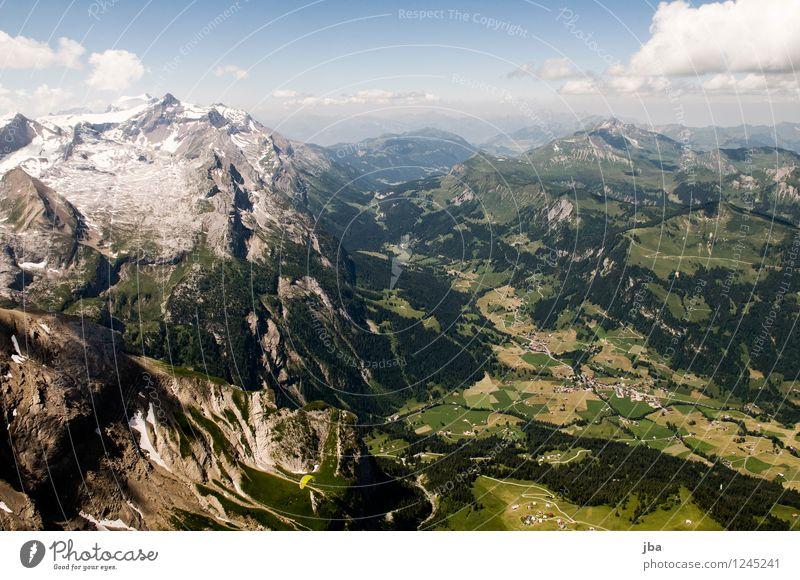 Col du Pillon Lifestyle Wohlgefühl Zufriedenheit Erholung ruhig Freizeit & Hobby Ausflug Ferne Freiheit Sommer Berge u. Gebirge Sport Gleitschirmfliegen