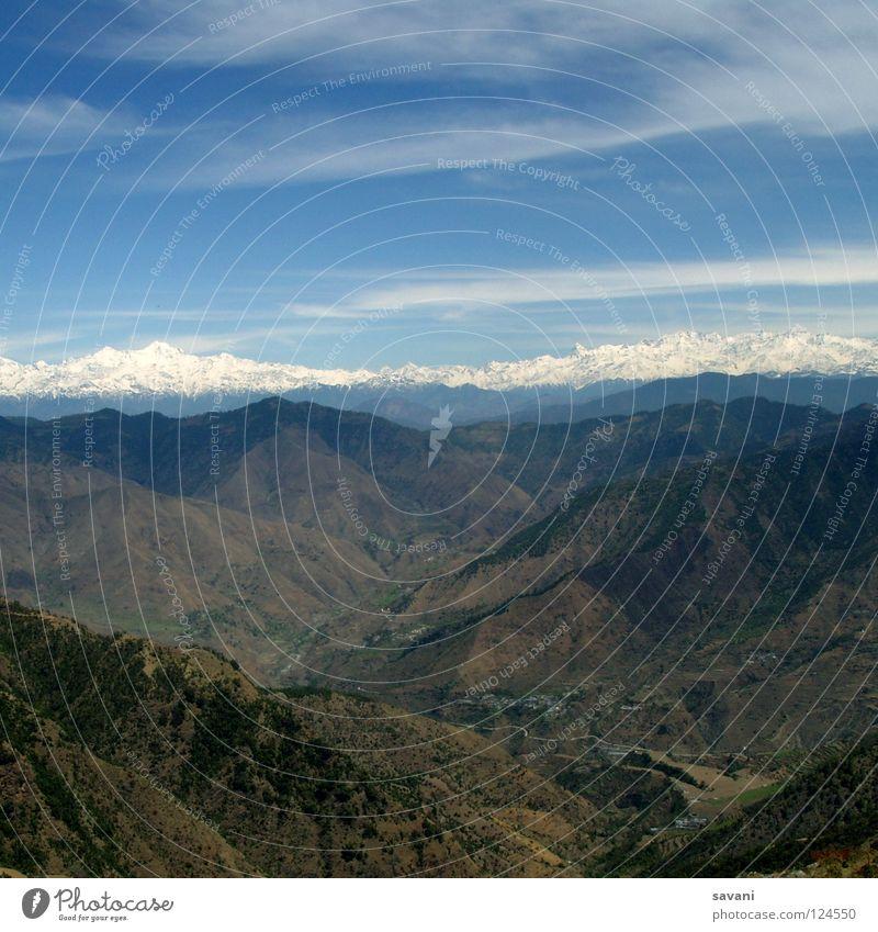 Himalaya III Ferien & Urlaub & Reisen Schnee Berge u. Gebirge Klettern Bergsteigen Natur Landschaft Gipfel Gletscher hoch Indien Asien Bergkette Berghang tief
