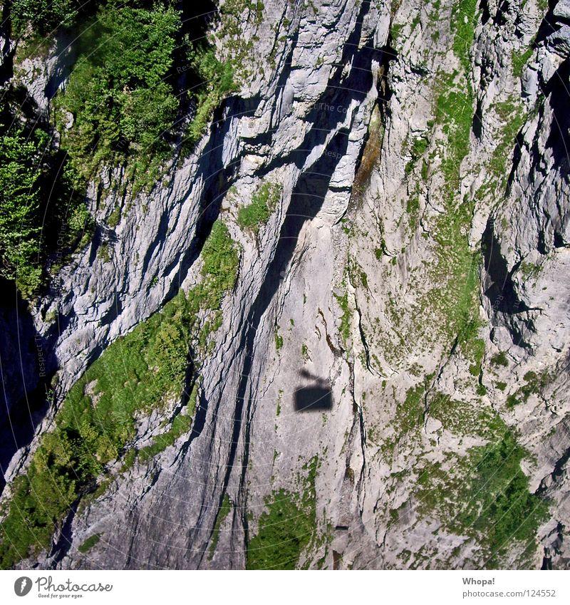 Merci Schweiz schön Ferien & Urlaub & Reisen Berge u. Gebirge Felsen tief Am Rand Wasserfall Seilbahn
