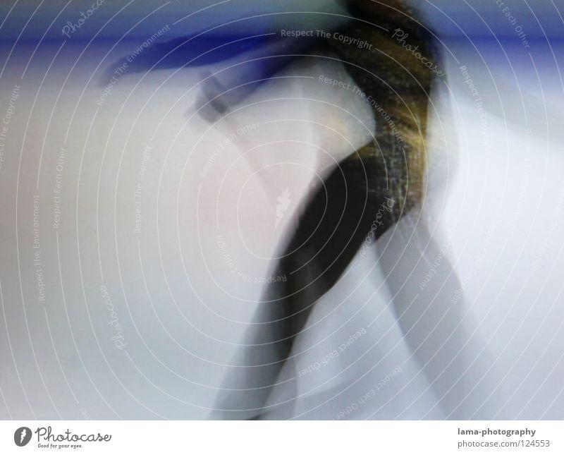 Spread your wings [PIXELS IN MOTION] Mensch weiß schön schwarz Sport Bewegung Kunst Eis elegant fliegen laufen Geschwindigkeit Streifen Flügel fahren