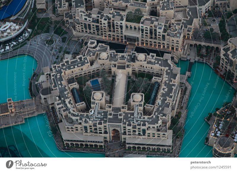 von ganz oben Ferien & Urlaub & Reisen Ferne Teich Dubai Hauptstadt Stadtzentrum Haus Hochhaus Gebäude Terrasse Dach Sehenswürdigkeit Burj Khalifa Fußgänger