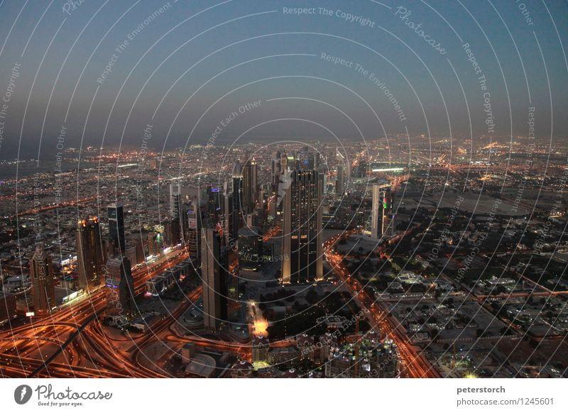 Lichtermeer 3 Ferien & Urlaub & Reisen Tourismus Sightseeing Städtereise Dubai Hauptstadt Stadtzentrum Skyline Hochhaus Architektur Sehenswürdigkeit