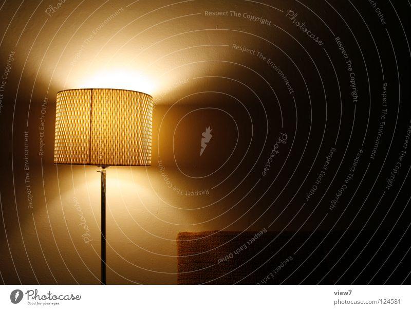 LoungeLicht Wärme Stil Lampe Raum Platz retro Sofa Club Veranstaltung Möbel Wohnzimmer Material Foyer links Siebziger Jahre