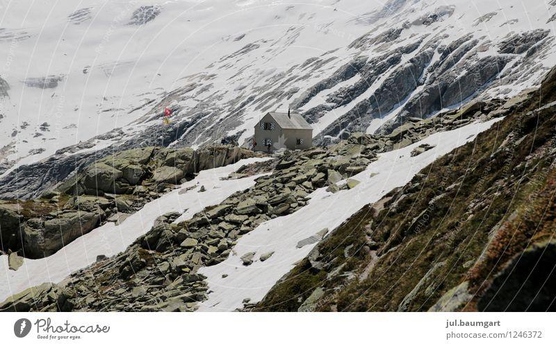 Dammahütte (2439 m ü.M.) Natur Sommer Landschaft Umwelt Berge u. Gebirge Architektur Felsen Schönes Wetter Abenteuer Alpen