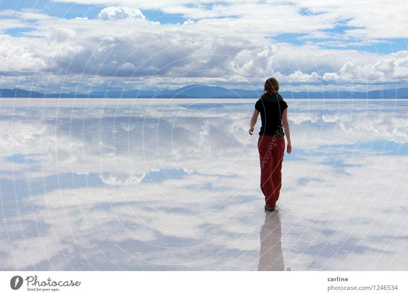 Hasta donde alcanza la vista Natur Landschaft Erde Wasser Himmel Wolken Horizont Klima Schönes Wetter Wüste Ferne blau rot weiß Abenteuer Ewigkeit Frieden