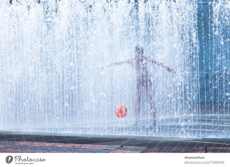 Summer in the city Freizeit & Hobby Spielen Sommer Mensch maskulin Kind Junge Kindheit 1 0-12 Monate Baby Sport Flüssigkeit Stadt blau orange weiß Freude