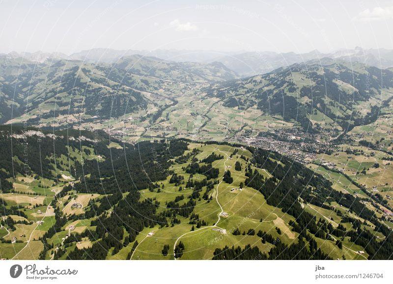 Saanen-Gstaad Sommer Erholung Landschaft ruhig Ferne Berge u. Gebirge Umwelt Sport Freiheit Lifestyle Zufriedenheit Freizeit & Hobby Luft Luftverkehr wandern