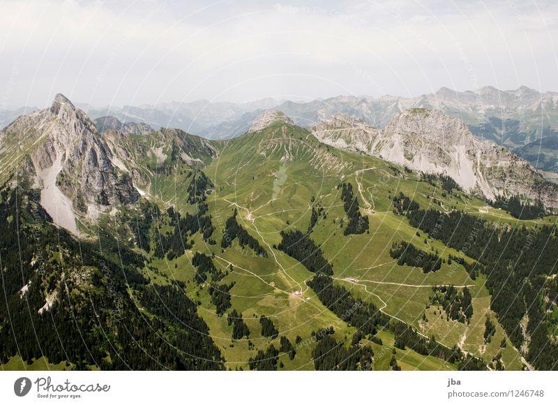 Alp-Welt Natur Sommer Erholung Landschaft ruhig Berge u. Gebirge Sport Freiheit Lifestyle Zufriedenheit Freizeit & Hobby Luft Luftverkehr Perspektive hoch