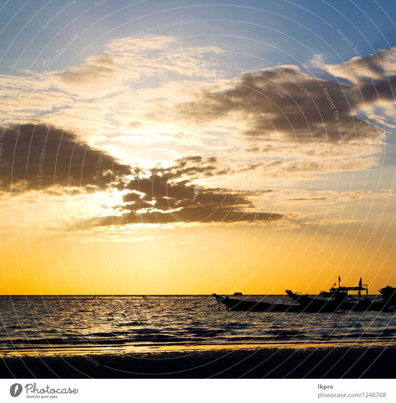 Asien in der Kho Tao Bay Isle Himmel Natur Ferien & Urlaub & Reisen Sommer Erholung Landschaft Wolken Strand gelb Küste Freiheit Stein Felsen Tourismus Wellen