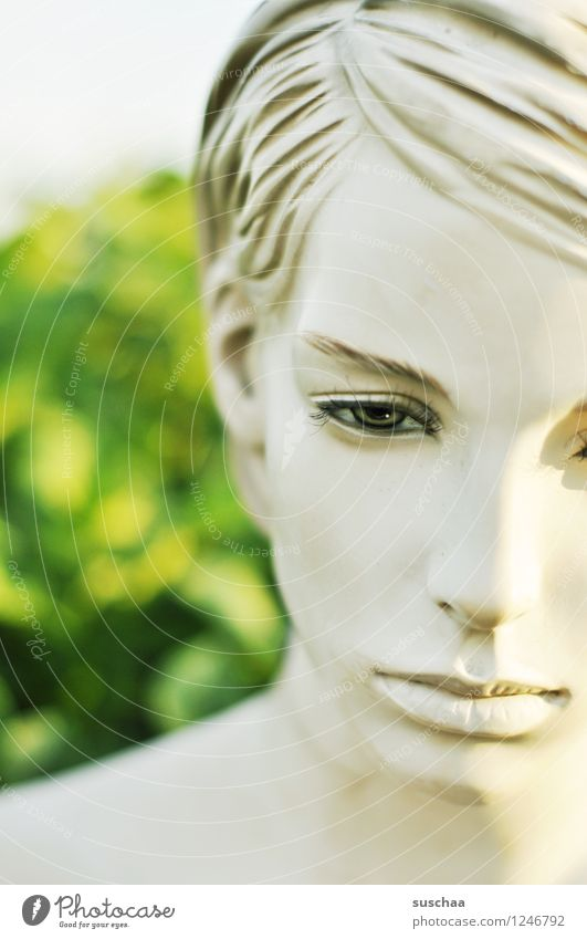 leblos schön kalt Gesicht Auge Mund Nase Kunststoff Lippen falsch Puppe Schaufensterpuppe perfekt künstlich