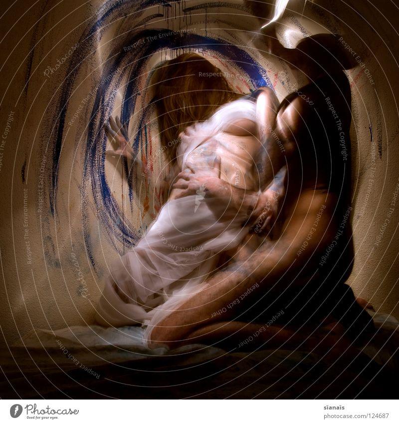 das orakel und ihr dealer Orakel Zauberei u. Magie Stoff Rausch Kleid träumen Mann Frau Schweiz Schichtarbeit Körpermalerei Liebe Bett Erotik Intimität Romantik