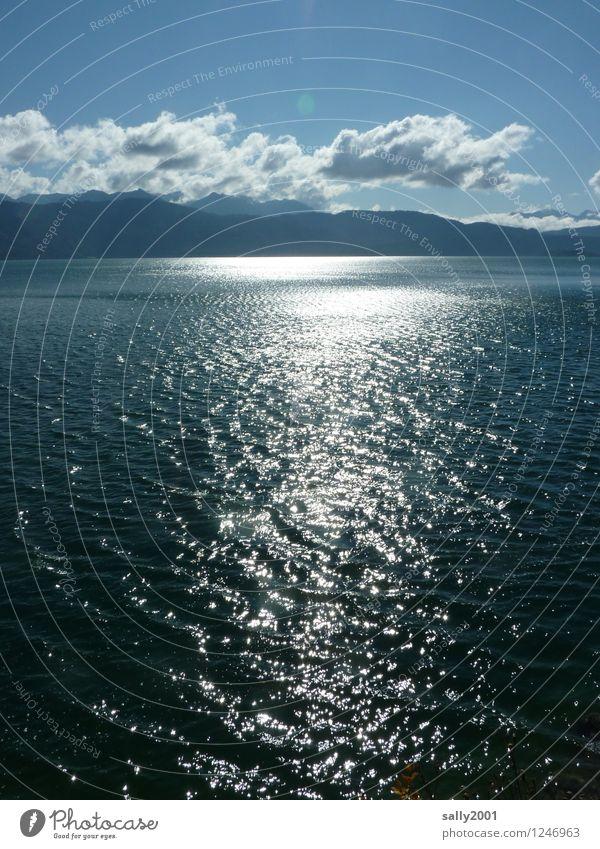 kühles Nass... Ferien & Urlaub & Reisen Natur Landschaft Wasser Sonne Herbst Schönes Wetter Berge u. Gebirge Alpen See Walchensee frisch kalt nass natürlich