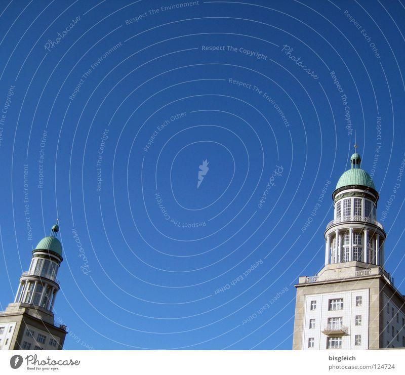 Frankfurter Tor (Berlin) Himmel blau Haus Deutschland Europa Verkehrswege Hauptstadt Friedrichshain