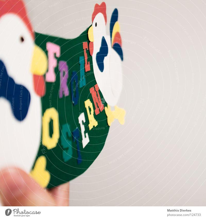 Frohe Ostern Freude Farbe Glück Fuß Schilder & Markierungen Finger Buchstaben Körperhaltung Wunsch Ostern Information Freundlichkeit tief Typographie Schwanz Daumen