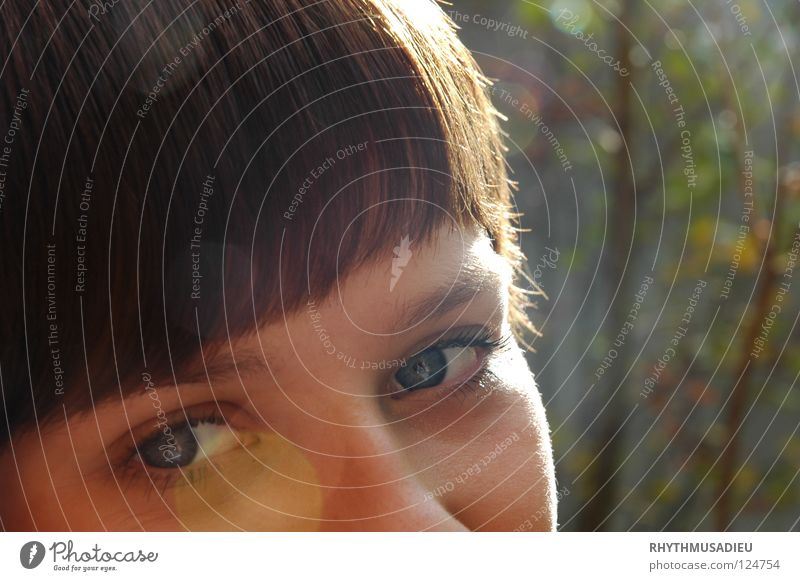 AUGENBLICK Natur Jugendliche Auge Glück Wärme Zufriedenheit frei