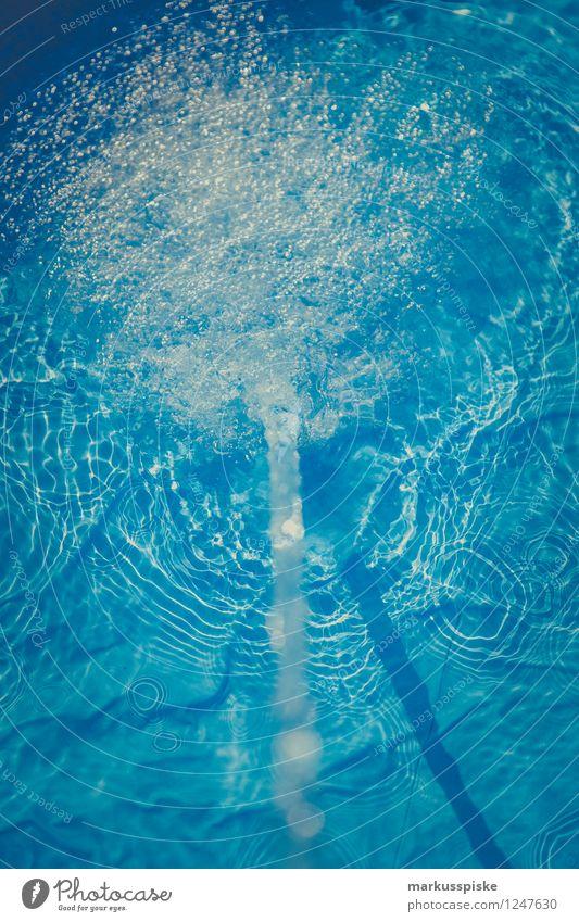 swimming pool Ferien & Urlaub & Reisen blau Sommer Sonne Erholung ruhig kalt Stil Sport Spielen Garten Schwimmen & Baden Lifestyle liegen Freizeit & Hobby