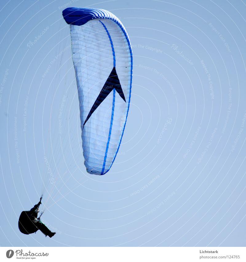 so ein tag Himmel blau Farbe Sport Spielen Freiheit Wärme Luft Wind fliegen Beginn Tourismus Freizeit & Hobby Konzentration Österreich Gleitschirmfliegen