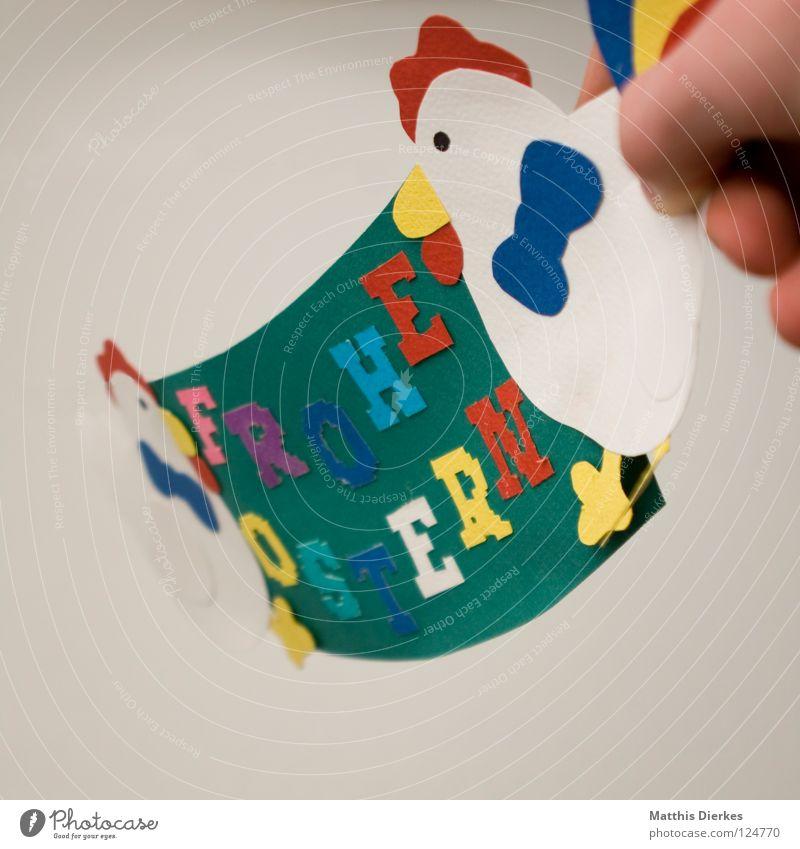 Frohe Ostern II Freude Farbe Glück Fuß Schilder & Markierungen Finger Buchstaben Körperhaltung Wunsch Ostern Information Freundlichkeit tief Typographie Plakat Schwanz