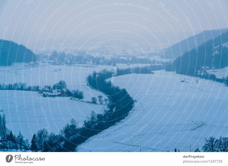 Winterlandschaft in der Steiermark Natur Ferien & Urlaub & Reisen blau Pflanze Erholung Landschaft Freude Tier Ferne Winter kalt Berge u. Gebirge Umwelt Gefühle Wiese Feld