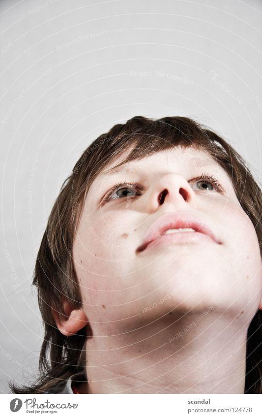 phipse looking up nowww Kind Mann weiß Auge Junge Haare & Frisuren Glück Nase Zukunft Hoffnung Zähne Lippen Vertrauen brünett Kinn Nasenloch