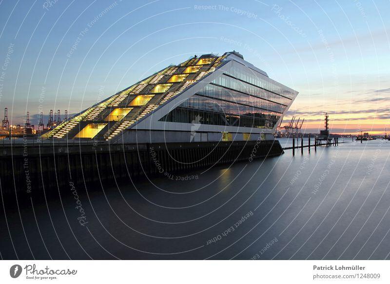 Dockland Hamburg Städtereise Arbeitsplatz Büro Güterverkehr & Logistik Unternehmen Reederei Umwelt Wasser Himmel Schönes Wetter Deutschland Europa Hafenstadt