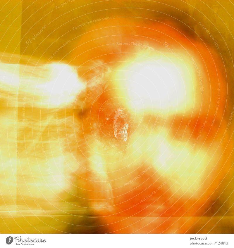 Sein und Nichts Mann Erwachsene Gesicht 1 Mensch Bewegung träumen Unendlichkeit hell Geschwindigkeit gelb orange Gefühle Stimmung Kraft Akzeptanz beweglich
