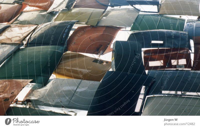 Schrottwand Motorhaube Wand Kunst Blech Freizeit & Hobby Metall hood scrap iron sheet metal Mauer