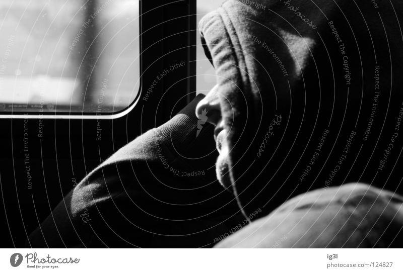 tagtRAUM Freude Gesicht schwarz Erholung träumen Zufriedenheit schlafen Energiewirtschaft Kommunizieren Wissenschaften Konzentration Kapuze wirklich verdeckt wahrnehmen Tagtraum