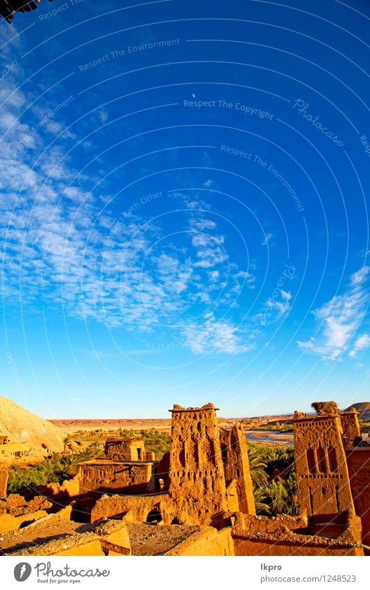 Jahreszeit Afrika in Marokko Ferien & Urlaub & Reisen Tourismus Sommer Kultur Landschaft Pflanze Wetter Dorf Kleinstadt Stadt Burg oder Schloss Ruine Gebäude