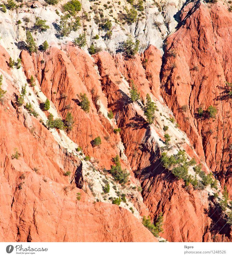 Tal Daten im Atlas Tourismus Sommer Berge u. Gebirge Natur Landschaft Pflanze Sand Himmel Klima Baum Hügel Felsen Oase Gebäude Stein Farbe Dades trocken