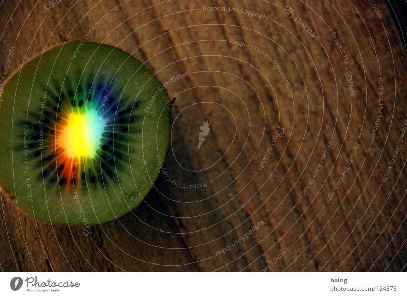 Kiwi blau grün Farbe rot gelb Frucht Wassertropfen süß Hoffnung Küche Tropfen Sehnsucht Symbole & Metaphern Strahlung Kristallstrukturen Kristalle