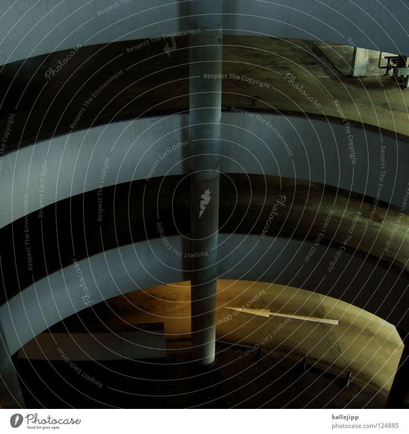 drehwurm Haus Architektur Beton Treppe modern Niveau Turm Unendlichkeit Etage tief drehen aufwärts Geländer Schnecke abwärts Spirale
