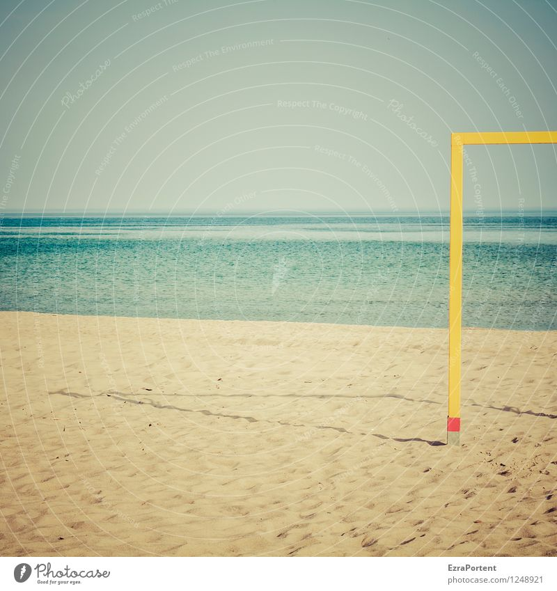 Meer Himmel Natur Ferien & Urlaub & Reisen blau Sommer Wasser Sonne Erholung Landschaft ruhig Ferne Strand gelb natürlich Sport