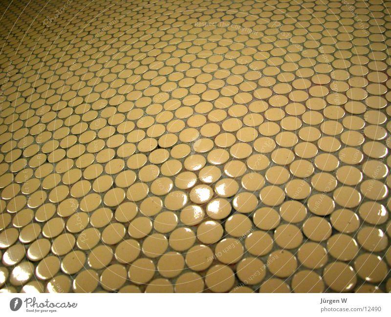 kleine Fliesen rund gelb Muster Dinge fleisen Strukturen & Formen tiles small circle structure