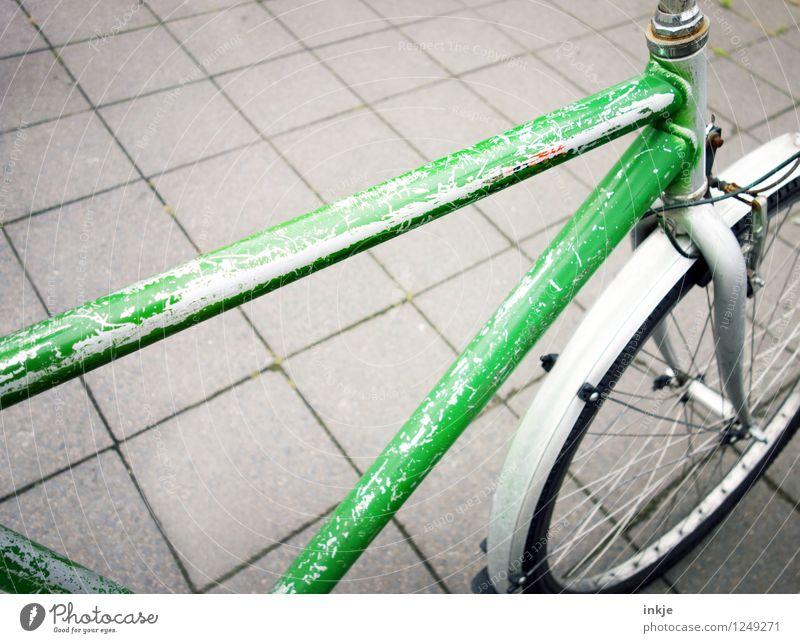 guter, alter Wegbegleiter Lifestyle Freizeit & Hobby Fahrradtour Fahrradfahren Herrenrad Fahrradrahmen Fahrradstange Metall Kratzer einfach grün gebraucht