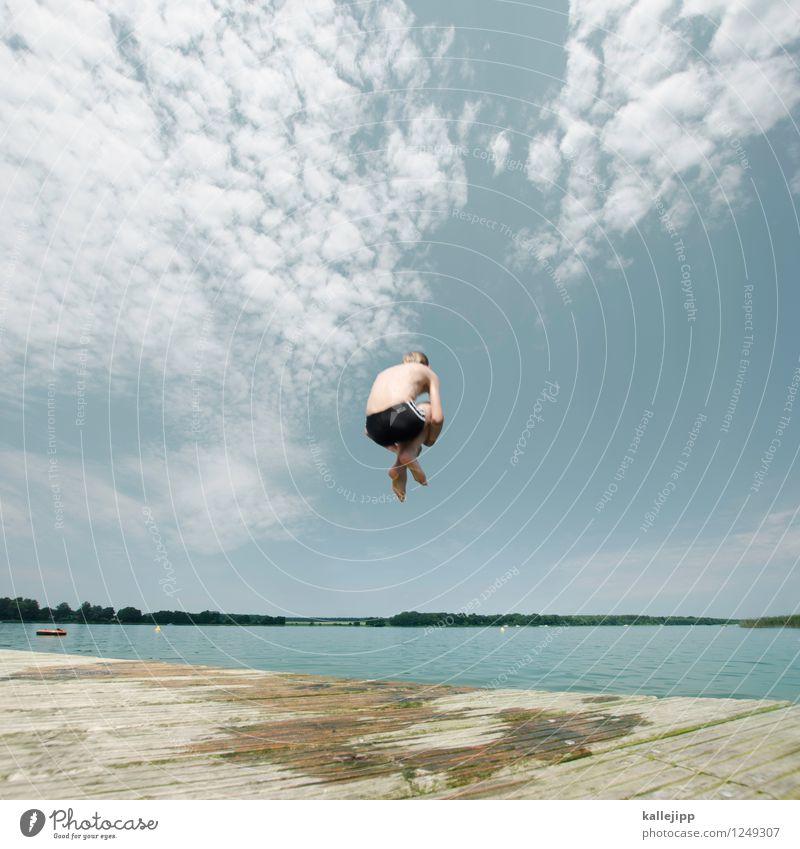 arschbombenbattle Mensch Kind Natur Sommer Wasser Leben Junge Küste Sport Spielen Feste & Feiern Schwimmen & Baden See Lifestyle springen Freizeit & Hobby
