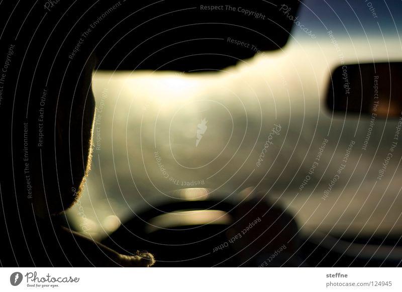Ausflug I Mensch Sommer Ferien & Urlaub & Reisen Straße Bewegung PKW Raum KFZ fahren Freizeit & Hobby Möbel Schönes Wetter lässig Fahrer Lenkrad
