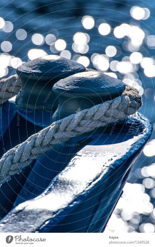 Schiffsbug im Gegenlicht mit Wasserreflexionen Ferien & Urlaub & Reisen Meer Seil Hafen Schifffahrt Kreuzfahrt Passagierschiff Kreuzfahrtschiff Fischerboot hell