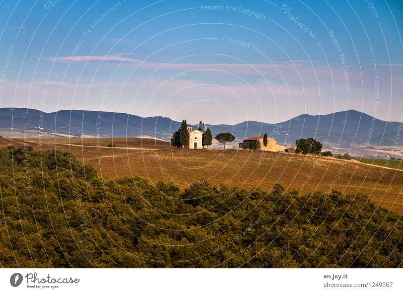 so klein und schon so berühmt Himmel Natur Ferien & Urlaub & Reisen Sommer Erholung Landschaft ruhig Haus Wald Umwelt Wiese Religion & Glaube Tourismus Ausflug Kirche Italien