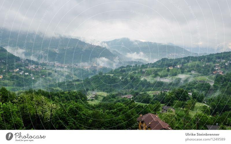 Valle Imagna Himmel Natur Ferien & Urlaub & Reisen Pflanze grün Sommer Baum Landschaft ruhig Wolken Wald Berge u. Gebirge Umwelt natürlich Tourismus Nebel