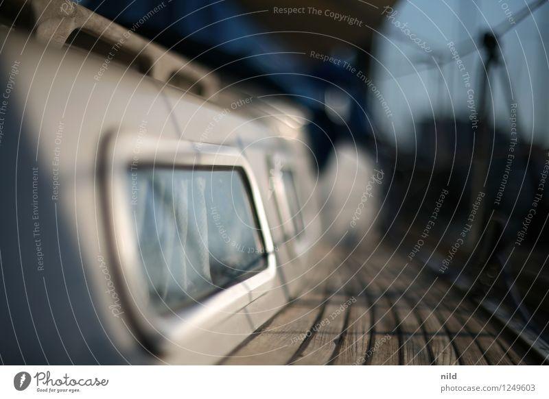 Fenster zum Horizont Lifestyle Stil Design Segeln Ferien & Urlaub & Reisen Ausflug Freiheit Sommer Sonne Wohnung Schifffahrt Segelboot Bullauge Erholung Teak