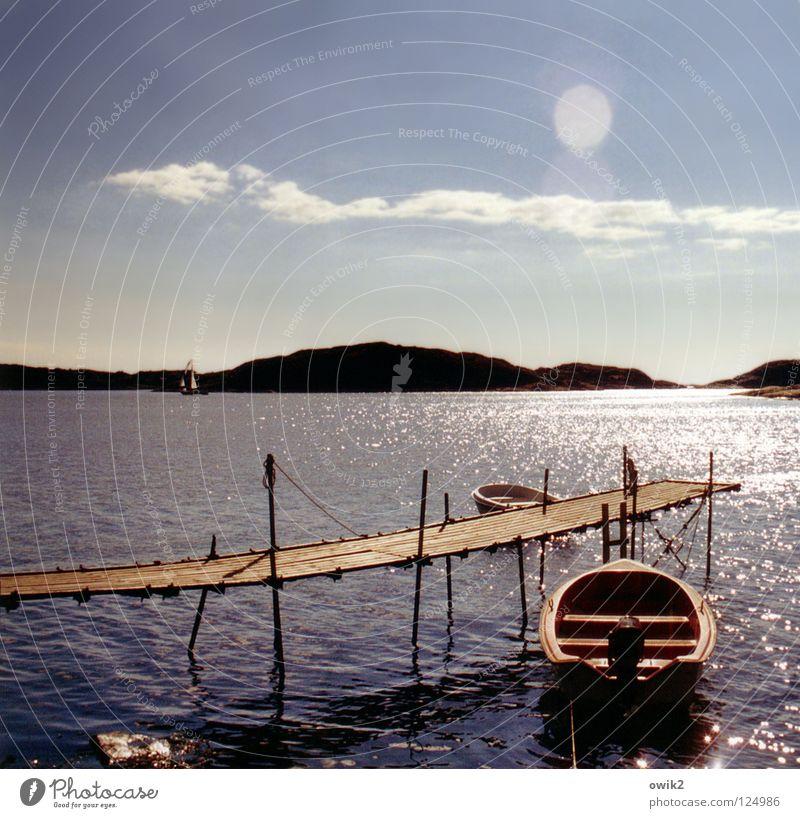 Verträumt Himmel Ferien & Urlaub & Reisen Sommer Wasser Sonne Meer Landschaft ruhig Ferne Strand Wärme Küste Lampe Wellen Idylle gefährlich