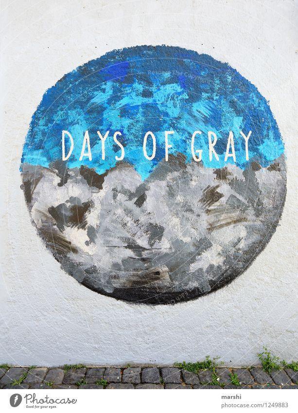 days of gray blau Reisefotografie Graffiti grau Stimmung Kunst Schriftzeichen Hinweisschild Zeichen rund Gemälde Island Künstler Kunstwerk Ornament Warnschild