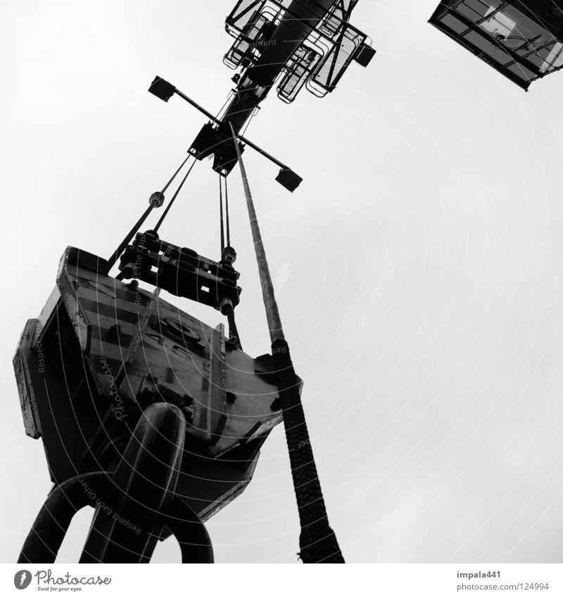 45 t Kran Gewicht schwer heben Stahl Plattform Hebel Arbeit & Erwerbstätigkeit Haken Fass Güterverkehr & Logistik transferieren Industrie Detailaufnahme Kraft