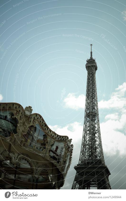 Paris Ferien & Urlaub & Reisen schön Sommer Freude Ferne dunkel Gefühle Stil Glück Lifestyle Stimmung Fassade Tourismus elegant Fröhlichkeit Ausflug