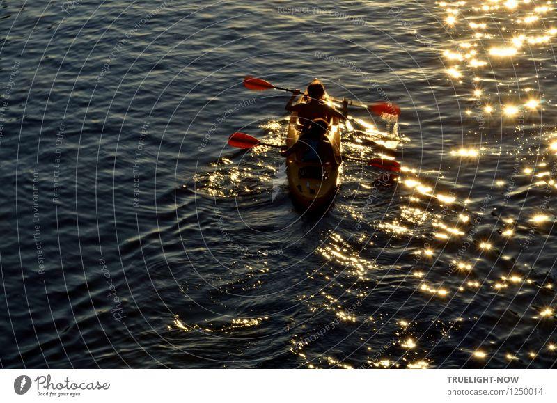 Im Goldrausch... Mensch Natur Jugendliche blau Sommer Wasser Sonne rot Landschaft Freude 18-30 Jahre Erwachsene gelb feminin Gesundheit Freiheit