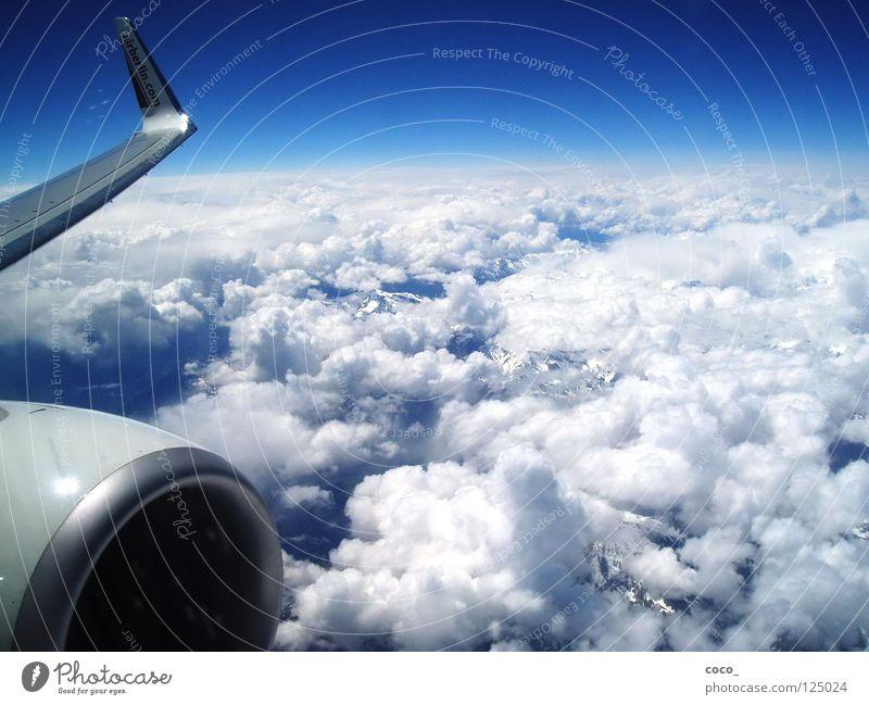Freiheit...!? Wolken Schnee Berge u. Gebirge Luft Flugzeug fliegen Alpen Sizilien