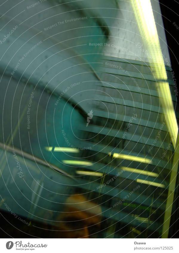 Stadtbahn im Winter Mann Ferien & Urlaub & Reisen Winter Gesicht kalt dunkel Fenster Herbst Traurigkeit Regen nass Eisenbahn fahren Trauer Aussicht Reflexion & Spiegelung