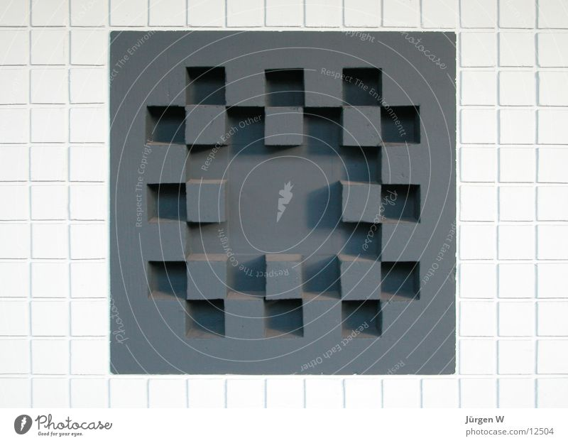 Quadrate weiß schwarz Wand Mauer Dinge