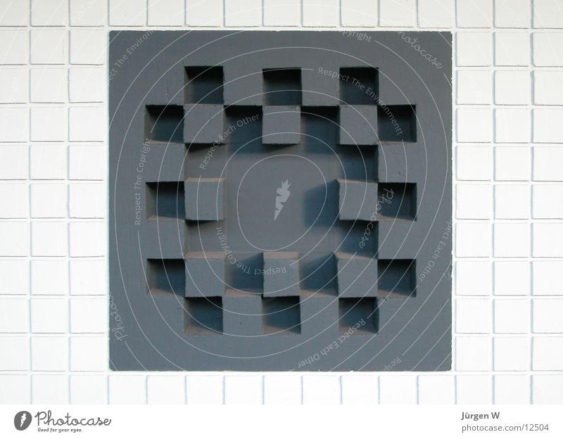 Quadrate weiß schwarz Wand Mauer Dinge Quadrat